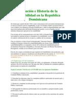 Historia de La Contabilidad en La Republica Dominicana