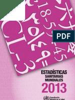 Estadìsticas sanitarias mundiales 2013