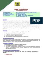 Candidature Master LT 2014
