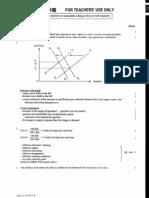2002 Economics Paper 1 Marking Scheme