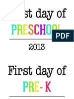 First Day of School Signs Preschool - 12th Grades by anna and blue paperie