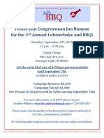 3rd Annual Lobsterbake and BBQ