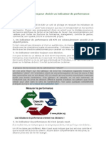 5 recommandations pour choisir un indicateur de performance clé KPI