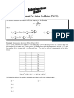 Product Moment Correlation Coefficient Contd