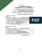 Horario de Clases PEM II y III Cohorte Julio a Nov. 2013.EFPEM-1