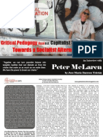 Critical Pedagogy Against Capitalist Schooling Towards a Socialist Alternative. an Interview With Peter McLaren