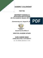Academic Calander 2013-14