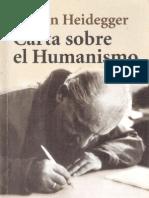 Heidegger, M. - CArta Sobre El Humanismo