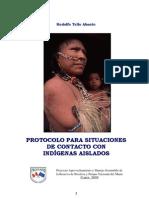 Protocolo Para Situaciones de Contacto Con Indigenas Aislados