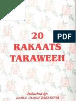20 Rakaats Taraweeh