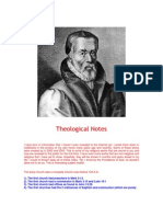 Theological Notes