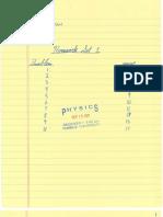 Physics Homework Set 01