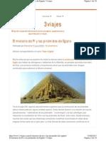 El Misterio de Pi y Las Piramides de Egipto