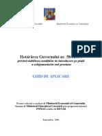 Ghid de aplicare HG 584/2004