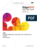 IBM® Edge2013 - Hot Spot Migration with EasyTier and V7000