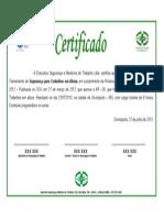 Certificado Treinamento Trabalho Em Altura Modelo