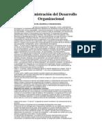 Administración del Desarrollo Organizacional