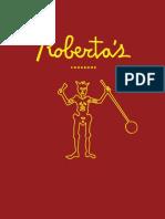 Recipes from Roberta's Cookbook