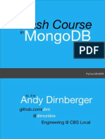A Crash Course in MongoDB