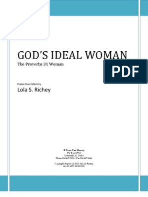 GOD'S IDEAL WOMAN: The Proverbs 31 Woman | Book Of Proverbs