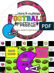 Factors Multiples Football Freebie