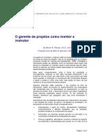 Artigo - O Gerente de Projetos Como Mentor e Instrutor
