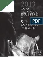 Convocatoria Copa Olímpica y Concurso de Salto # 9 FPDE