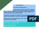 Copia de Costos Produccion - Solver