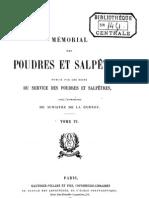 Mémorial des poudres et salpêtres, tome 6, 1893 - France