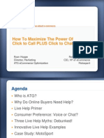 Ecommerce Click to Call Click to Chat Slides 2009