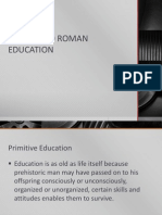 Ancient to Roman Education