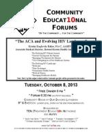 September HIV Educational Forum Colorado