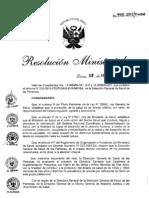 RM945 2012 MINSA Directiva de Suplementacion Preventiva Hierro