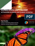 Raj Sisodia Conscious Capitalism Presentation BVC South Africa