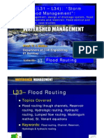 Lecture33 - Flood Routing