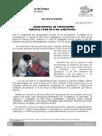 13/08/13 Germán Tenorio Vasconcelos OFRECE HOSPITAL DE TAPANATEPEC ATENCIÓN A MÁS DE 60 MIL HABITANTES-1