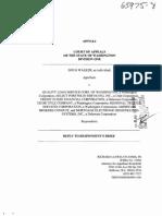 Walker v Quality Loan Svc Etal_2011!08!23__reply to Respondent's Brief