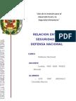 Seguridad Nacional y Defensa Nacional
