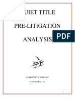 Quiet Title Pre-litigation Analysis