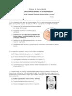 Examen de Neuroanatomía