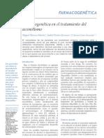 Farmacogenética en el tratamiento del alcoholismo