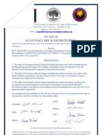 Letter of Acceptance and Acknowledgment-motu proprio