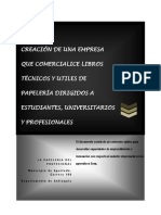 Creacion de Una Empresa Comercializadora de Libros Tecnicos