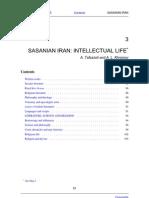 Vol_III Silk Road_sasanian Iran, Intellectual Life