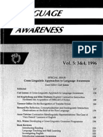 A Cross-Linguistic Approach to Language Awareness - Carl James - Multilingual Matters (1996)