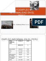 Autoempleo e Informalidad en el Perú