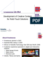 Content Development for Multi-Touch Solution