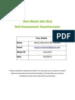20120525 Sam Media Recruitment Questionnaire