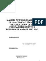 Federacion Peruana de Karate 2013