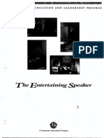 The Entertaining Speaker